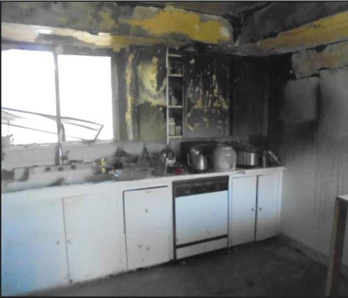 Rebuild of a Fire Damaged Kitchen in Highland Park Before