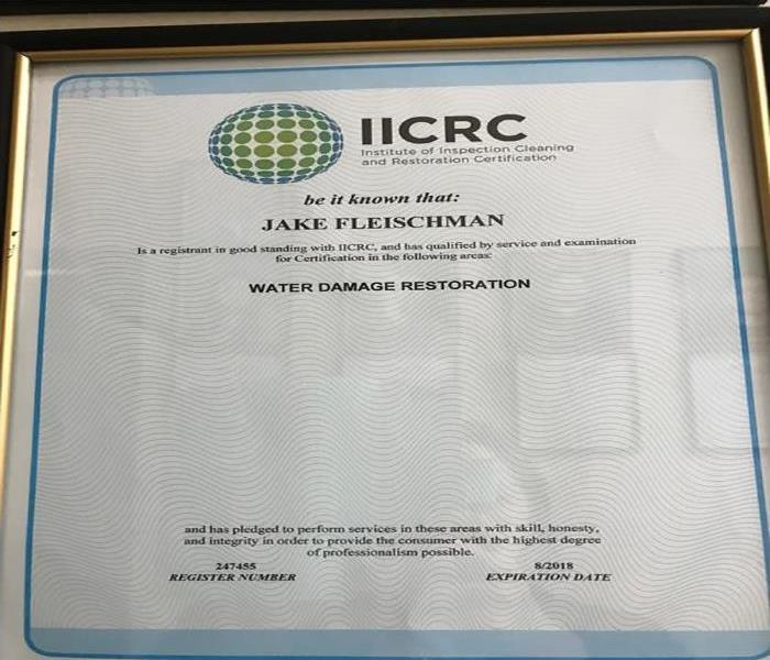 IICRC Certification In Water Damage Restoration