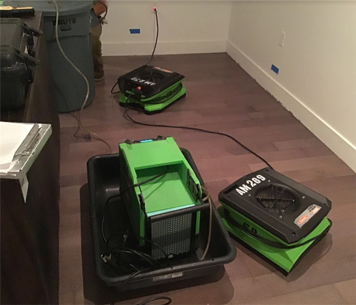 SERVPRO equipment in a home