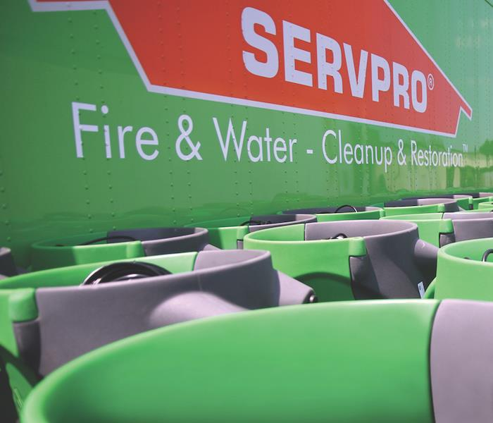 SERVPRO logo and equipment