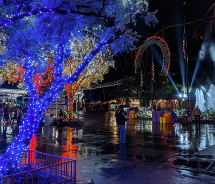 light show at six flags, nite,